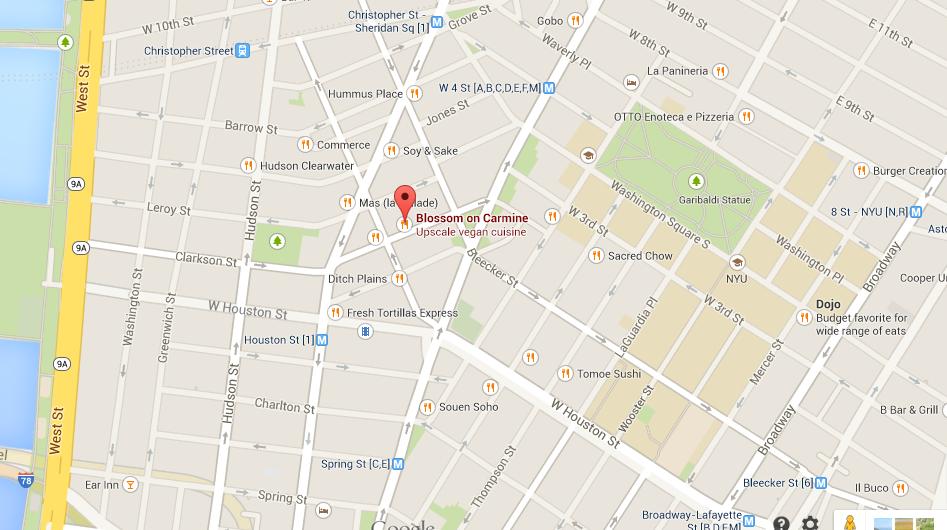 Nyc Restaurant Map