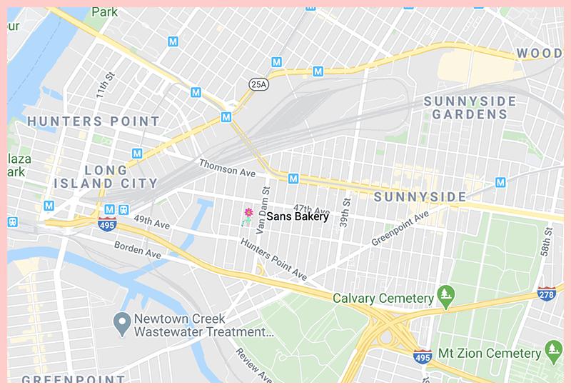 Sans Bakery Map