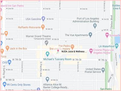 nudajuiceshopmap Gluten Free Traveling Toon