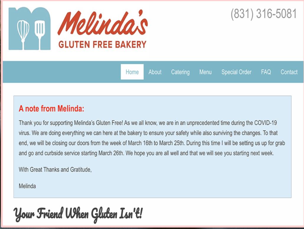 Melindas Gluten Free