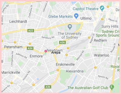 Arepa Gluten Free Restaurant Sydney Google Map