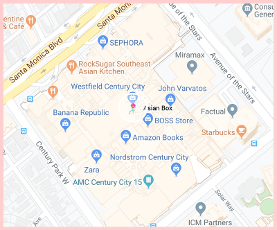 Asian Box Santa Monica Google Map