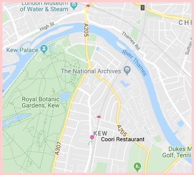 Coori Gluten Free Google Map