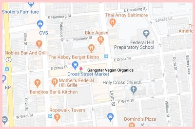 Gangster Vegan Gluten Free Google Map MD