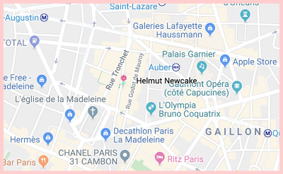 Helmut Newcake 28 Rue Vignon Google Map