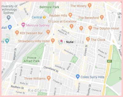 Nutie Gluten Free Google Map