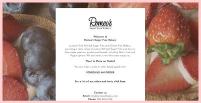 Romeossf Bakery Website