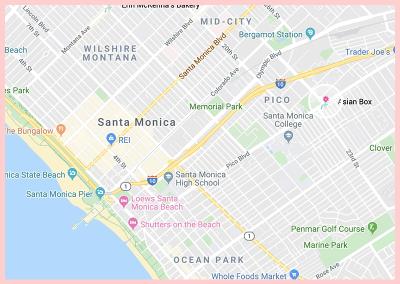 Santa Monica Asian Box Google Map