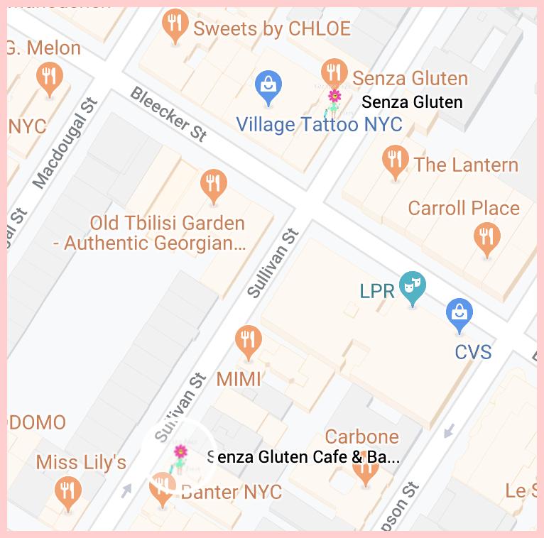 Senza Gluten Free Google Map