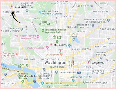 Seoul Spice Washington DC North Google Map