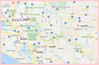 SpudBar Melbourne Gluten Free Google Map