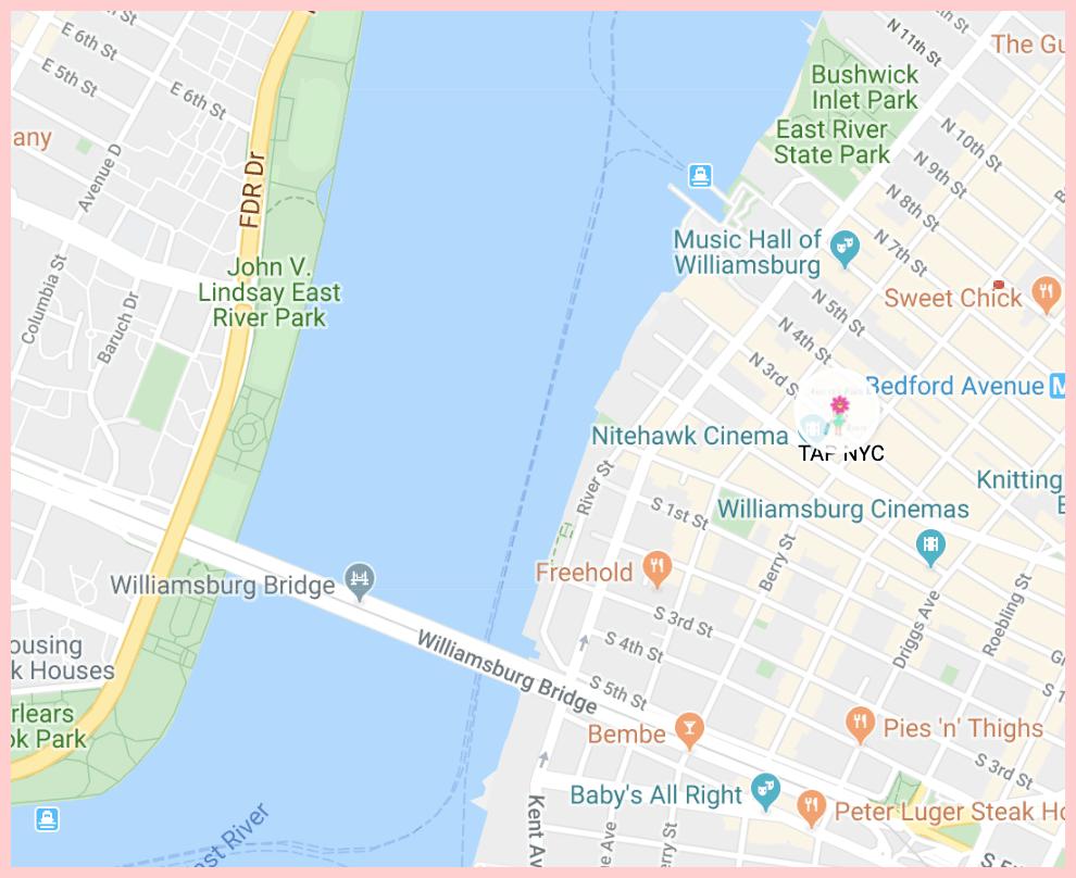 Tap NYC Brooklyn Google Map