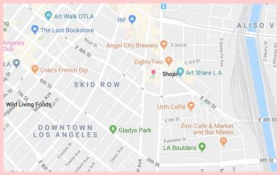 The Shojin Restaurant Google Map LA