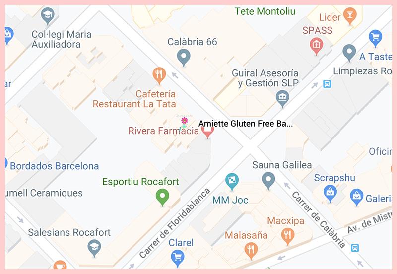 Amiette Barcelona Google Map