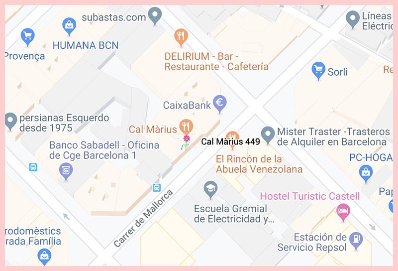 Cal Marius 449 Barcelona Google Map