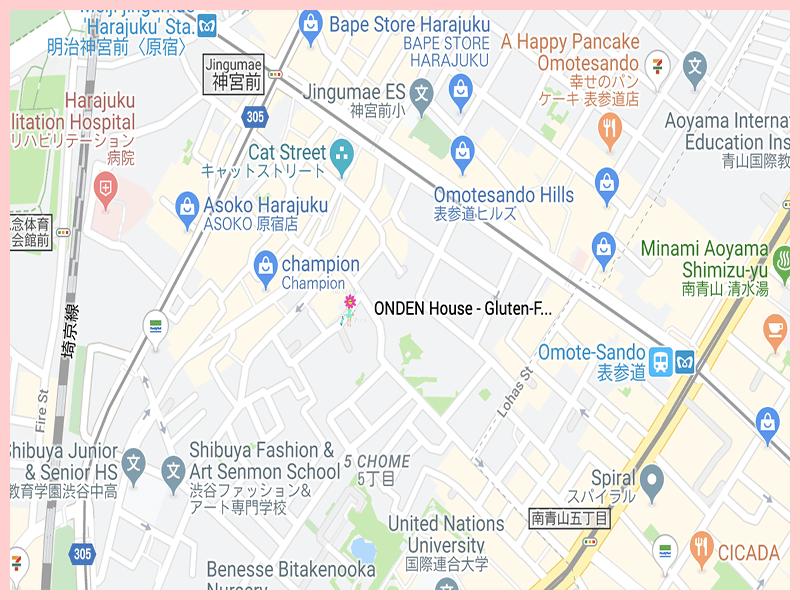 ONDEN House Google Map