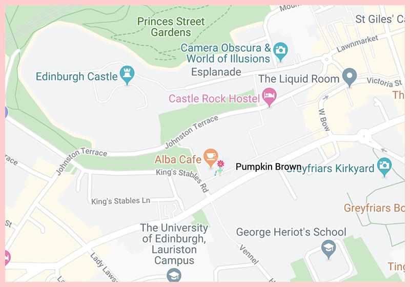 Punkin Brown Edinburgh Scotland Google Map