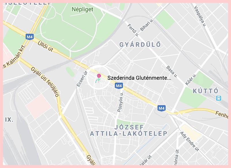 Szederinda Glutenmentes Google Map
