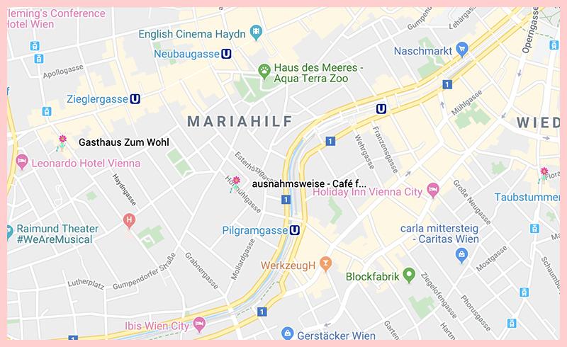 ausnahmsweise Vienna Google Map