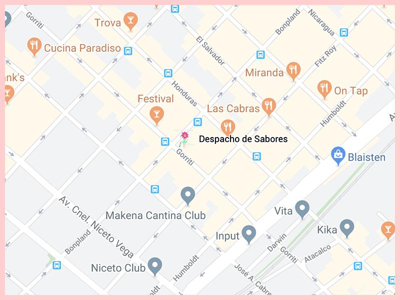 despachodesaboresGoogleMap