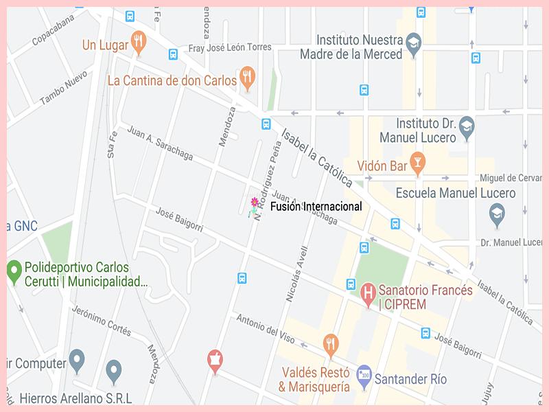 fusioninternacionalrestoGoogle Map