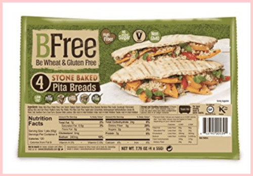 Bfree Gluten Free StoneBaked Pita Bread