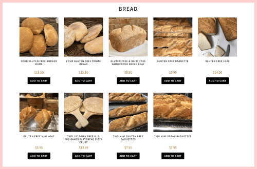 Senza Gluten Baked Goods