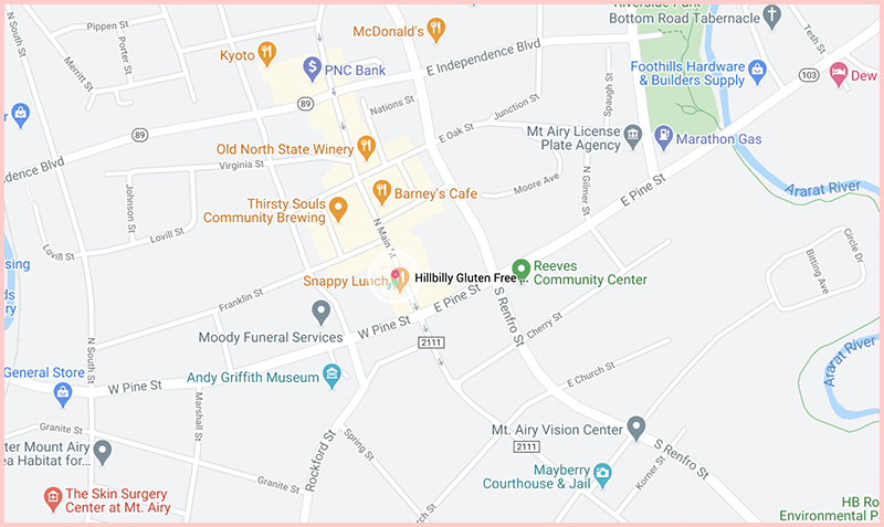 Hillbilly Gluten Free Bake Shopmap