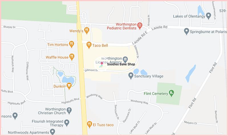 Soodles Bake Shopmap