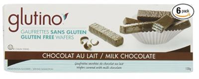 Glutino Chocolate Wafers, Chocolate Coated