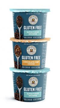 King Arthur Flour Gluten-Free Single Serve Variety Pack Super Fudge Brownie and Chocolate Chip